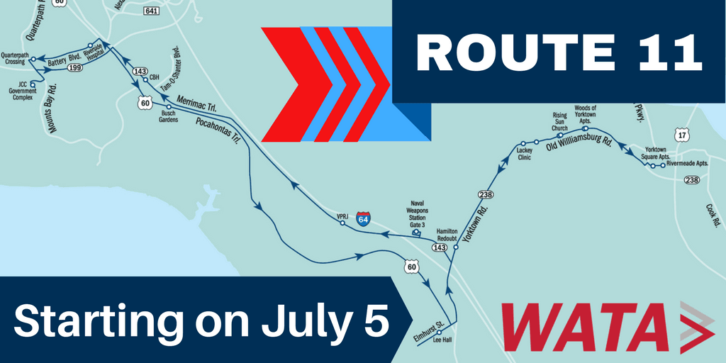 Route 11 Starting on July 5